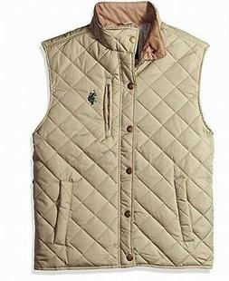 U.S. POLO ASSN. NEW Beige Mens Size Medium M Quilted Vest Ja