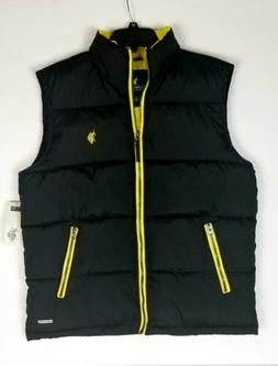 U.S. POLO ASSN. NEW Black Mens Size Small  Mock  Neck Vest J