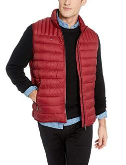 Tommy Hilfiger Men's Ultra Loft Quilted Puffer Vest, red, X-