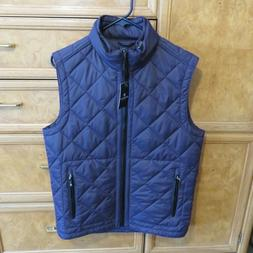 Men's Bugatchi Uomo Hooded Quilted Vest, Size Small - Purple