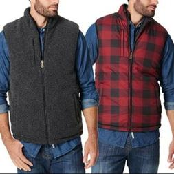 Weatherproof Vintage Men's Puffer Reversible Vest Red Black