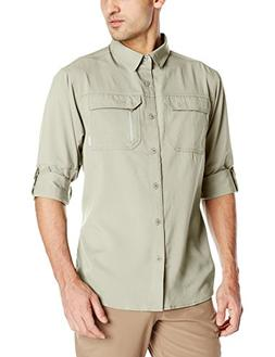 Columbia Men's Voyager Long Sleeve Shirt, Fossil, X-Large