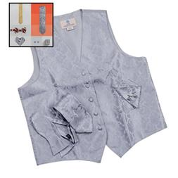 VS1006 2XL GREY Pattern Vest Mens Gifts Tie C Vs1006 XX LARG