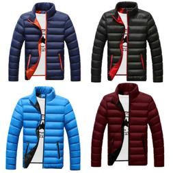 Winter Men's Warm Ultralight Puffer Down Parka High Neck Coa